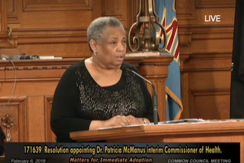 Milwaukee Common Council appoints McManus interim health commissioner