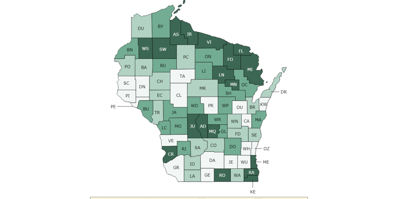 Ozaukee County ranked healthiest in state