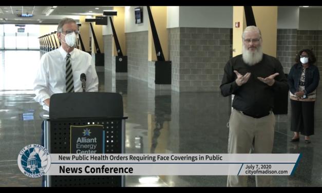 Dane County Executive Joe Parisi talks mask requirement, COVID-19 response
