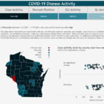 Wisconsin's high levels of COVID-19 activity trend downward